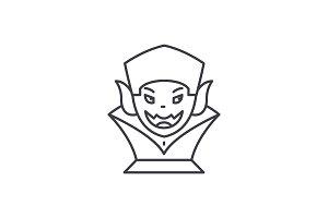 Vampire line icon concept. Vampire