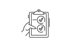 Voting line icon concept. Voting