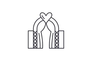 Wedding line icon concept. Wedding