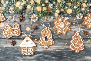 Christmas decorations of Gingerbread