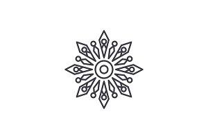 Winter decoration line icon concept