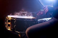 man playing the snare drum  by  in Arts & Entertainment