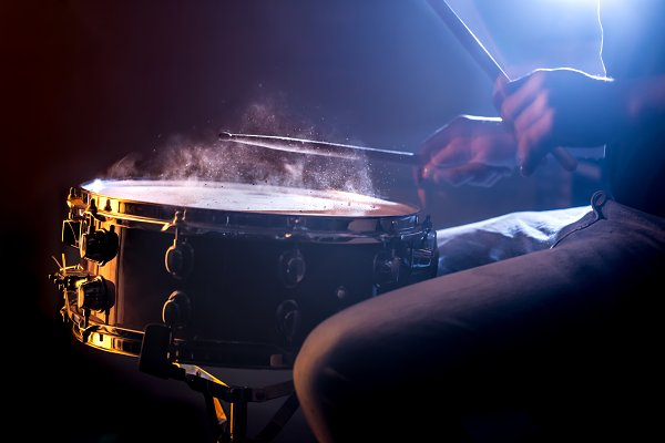 Arts & Entertainment Stock Photos - man playing the snare drum