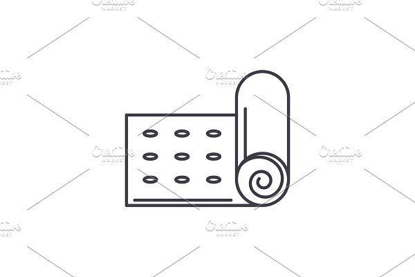 Mat line icon concept  Mat vector ~ Illustrations ~ Creative