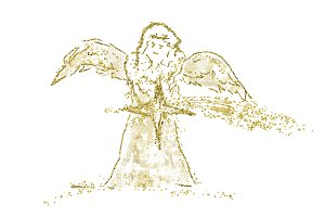 Abstract religious Christmas Angel