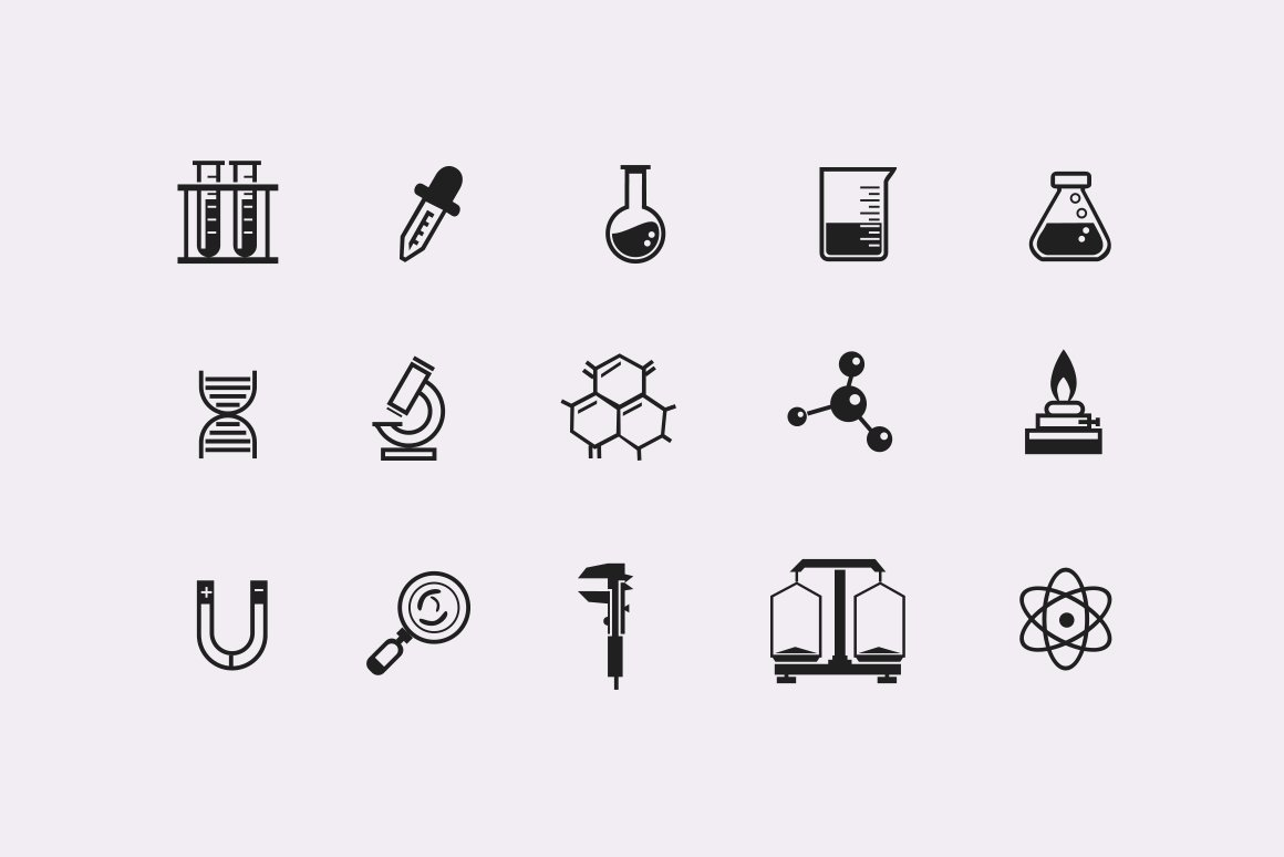 85 science equipment illustrations objects creative market 15 laboratory and science icons buycottarizona Images
