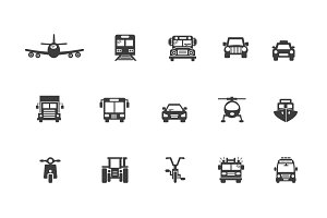 15 Transportation Icons