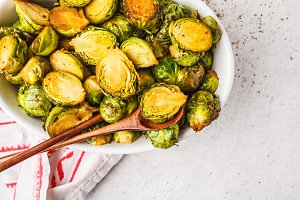 Baked brussels sprouts