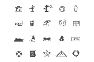 20 Holiday and Vacation Icons