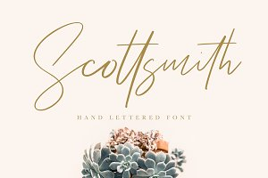 Scottsmith - Ligatures Font