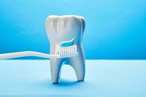 Taking care of teeth, dental concept