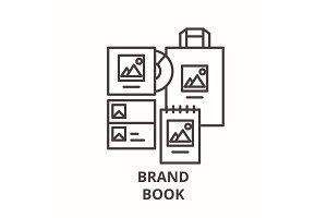 Brand book line icon concept. Brand