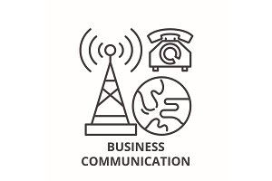 Business communication line icon