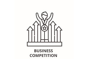 Business competition line icon