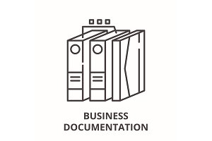 Business documentation line icon