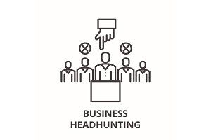 Business headhunting line icon