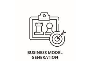 Business model generation line icon
