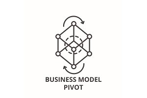 Business model pivot line icon