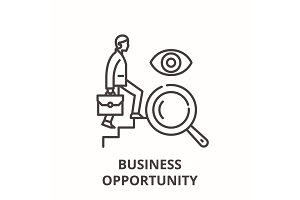 Business opportunity line icon