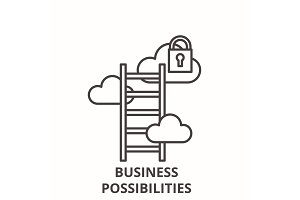 Business possibilities line icon