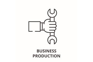 Business production line icon