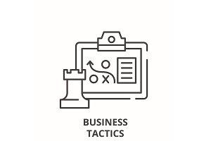 Business tactics line icon concept