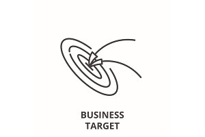 Business target line icon concept