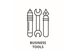 Business tools line icon concept