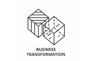 Business transformation line icon