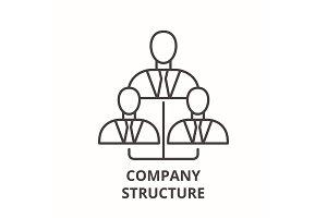 Company structure line icon concept