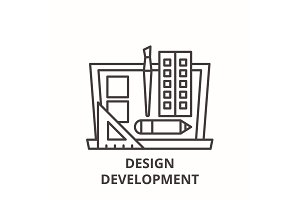 Design development line icon concept
