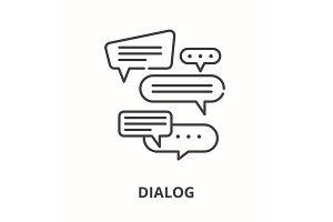 Dialog line icon concept. Dialog