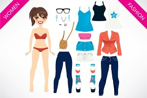 Pretty Paper Doll Set