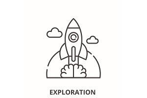Exploration line icon concept