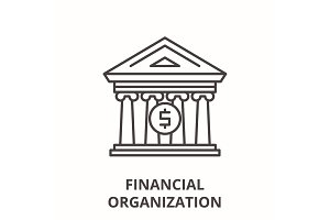 Financial organization line icon