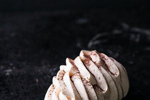 Meringues with cocoa powder