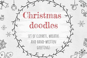 Christmas doodles. Big Bundle