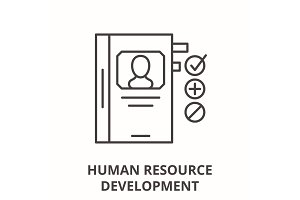 Human resource development line icon