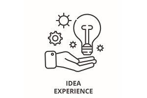 Idea experience line icon concept