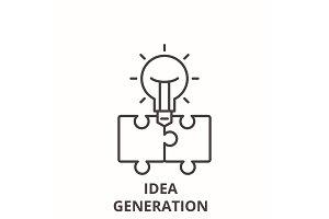 Idea generation line icon concept