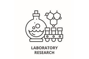 Laboratory research line icon