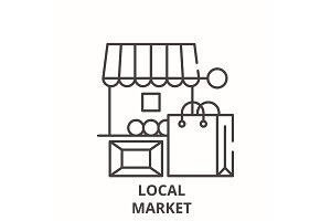Local market line icon concept