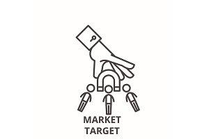 Market target line icon concept