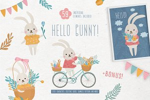 Hello Bunny! Cute characters pack