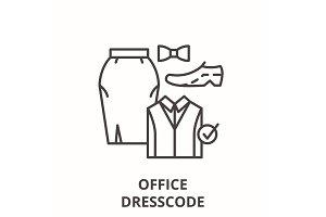 Office dresscode line icon concept