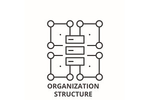 Organization structure line icon