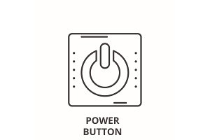 Power button line icon concept