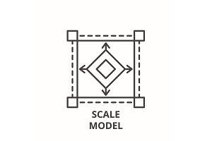 Scale model line icon concept. Scale