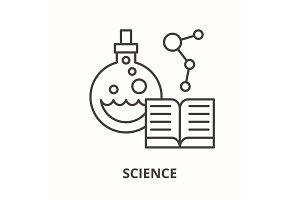 Science line icon concept. Science