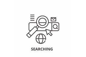 Searching line icon concept